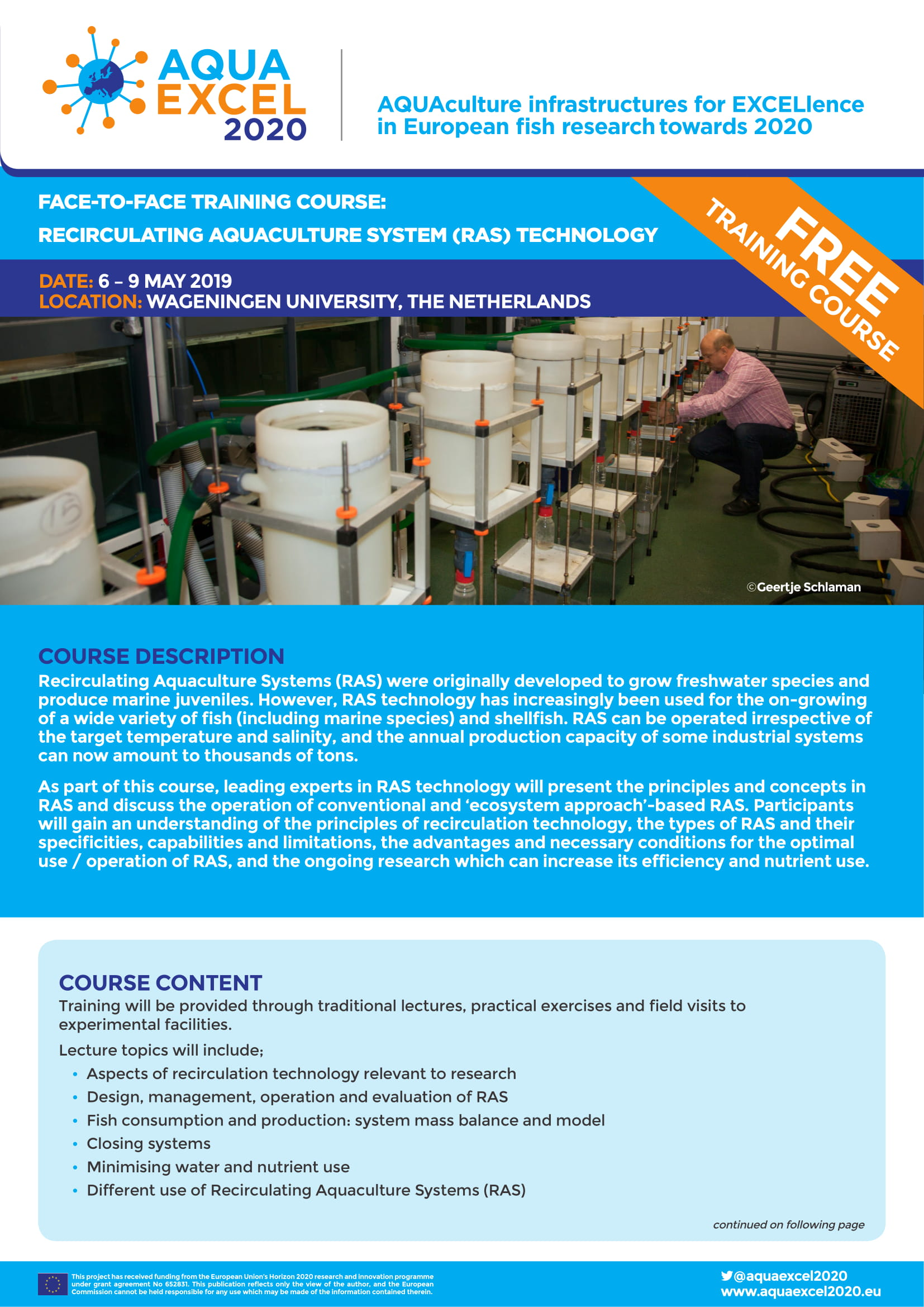 Upcoming Training Courses Apply Now Aquaexcel2020