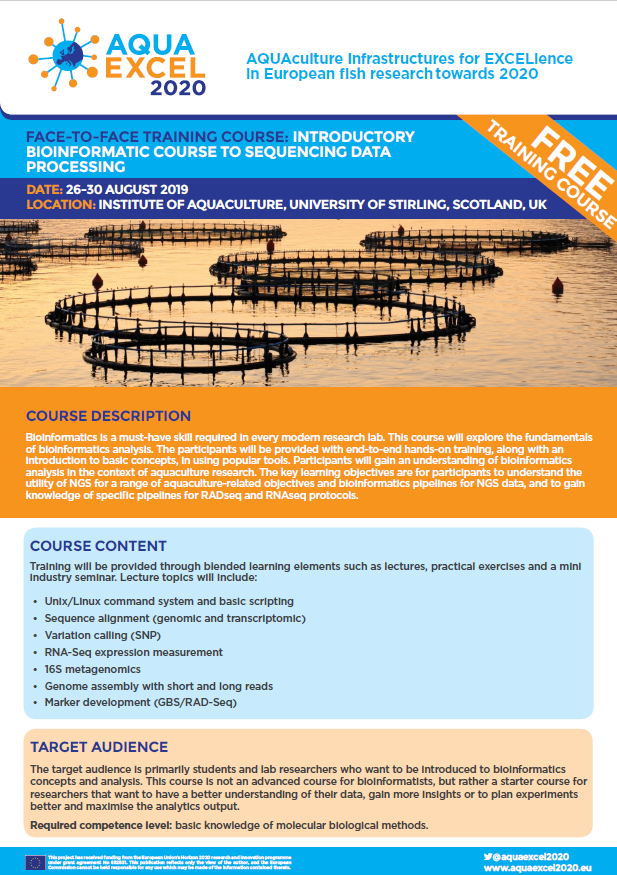 Upcoming Training Courses - APPLY NOW | AQUAEXCEL2020